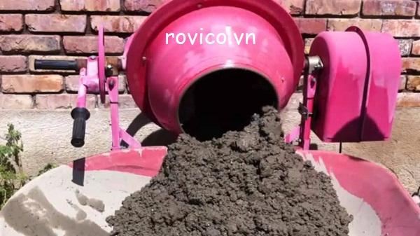 dùng máy trộn bê tông đúng cách