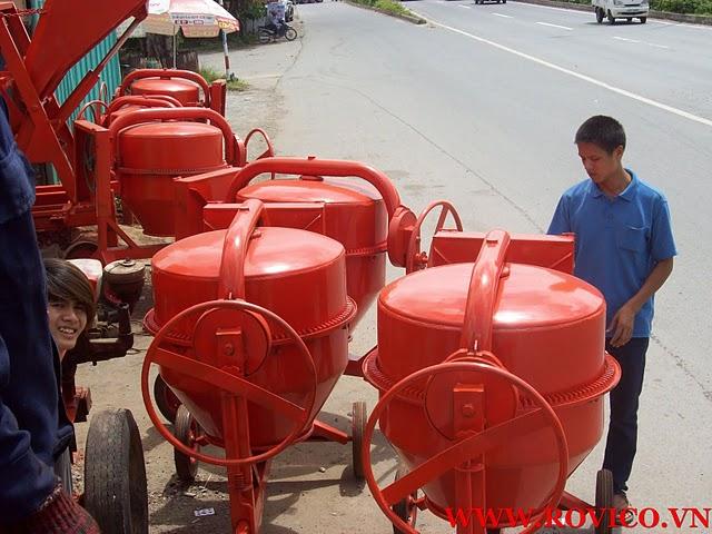 Phương án sử dụng máy trộn bê tông quả lê hiệu quả